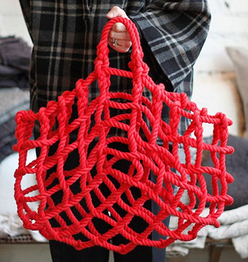 This is kind of a fabulous basket. It's called the Knot Basket. Found it on Design Sponge.