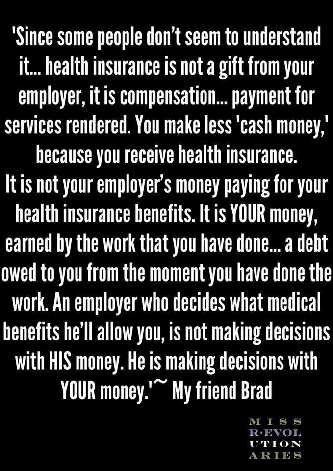 Anyone who has worked in HR or as a pool RN knows that this is most certainly NOT TRUE. The money is a BENEFIT PAID BY YOUR EMPLOYER. It is NOT your money! Your employer has to pay more for full time employees than part time in the same position doing the same work because of the benefit packages that go with most full-time positions. Full time workers cost more than part-time, which is why when companies fall on hard times, they CUT benefits and CUT full time workers.
