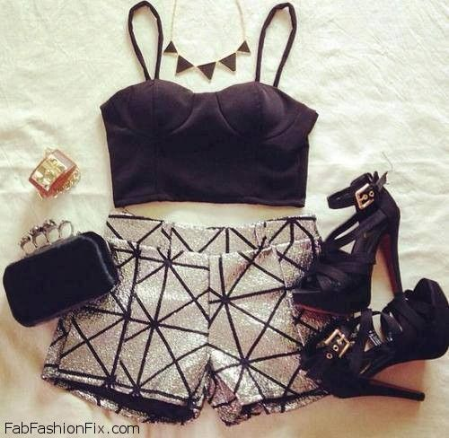 summer outfit with bustier top