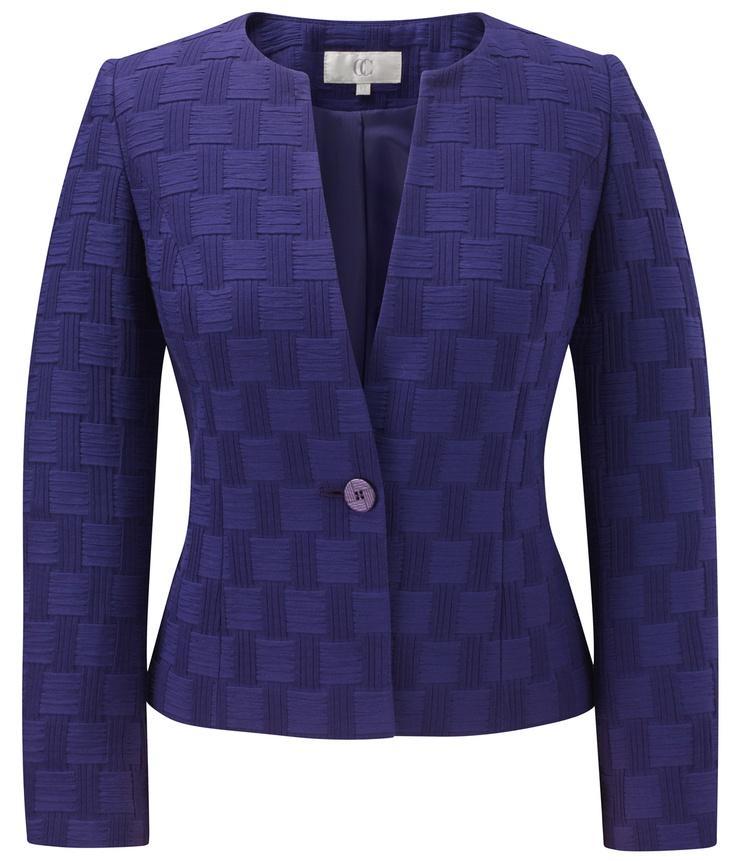 CC - Aubergine Basket Weave Jacket