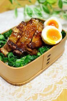 日本人のごはん/お弁当 Japanese meals/Bento 照り焼きチキン弁当 Chicken Teriyaki over Rice, Japanese Bento Lunch|弁当
