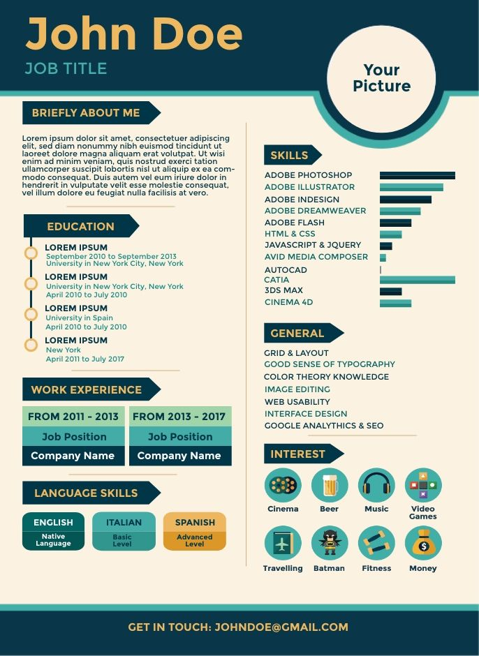 Blue Green Resume Template Simple Infographic Maker Tool In 2020 Infographic Templates Infographic Resume Infographic Resume Template