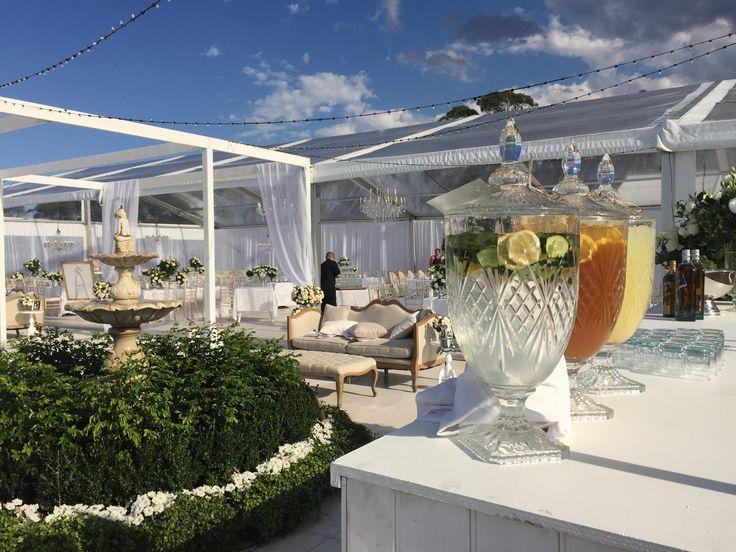 Marquee wedding at Baie Wines.