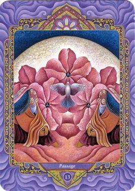XIII - Le passage (la mort) - Tarot triple déesse par Isha Lerner & Mara Friedman