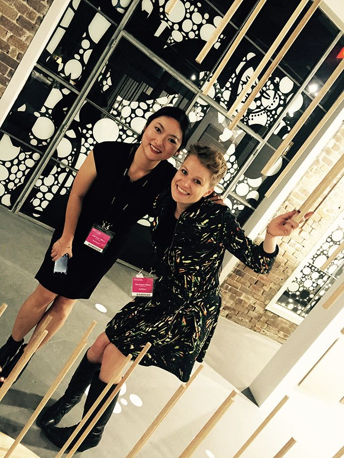 Eva and Lisa having a ball at the Design Republic/bleux 2015 SID Party! #SID #bleux #designrepublic