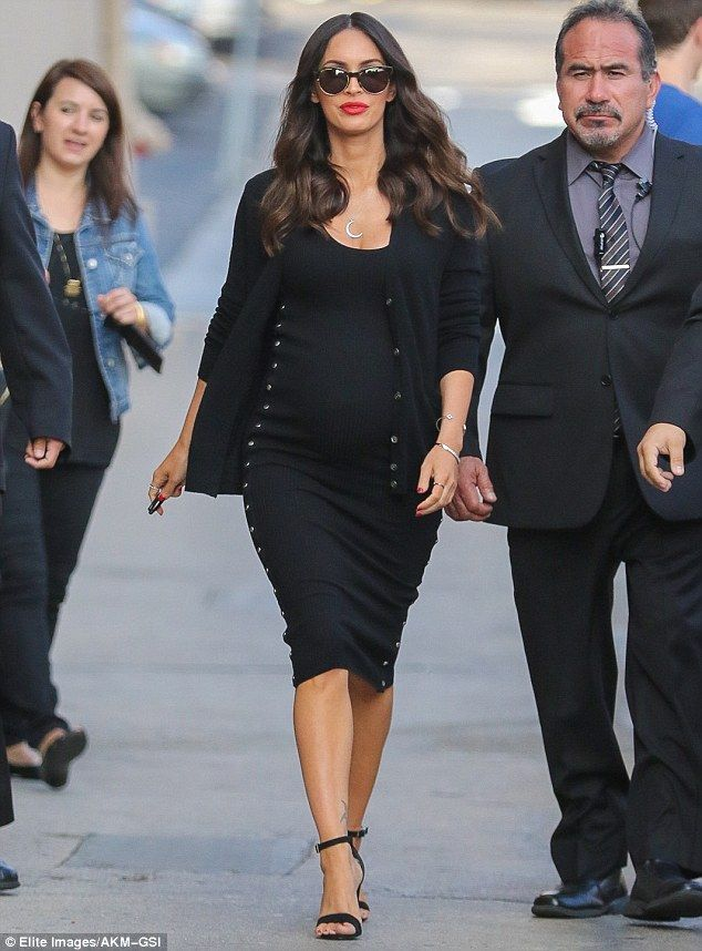 Fancy: Megan Fox looked incredible while heading to Jimmy Kimmel Live! on Tuesday in Holly...