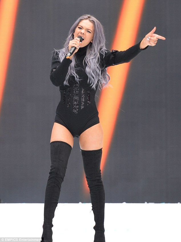 Hitting those thigh notes! Louisa Johnson took her grown-up look to the next level when she commanded the stage at London's Capital Summertime Ball in a racy bodysuit on Saturday