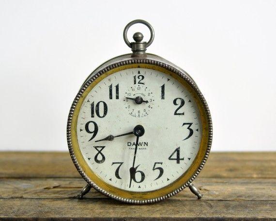 Vintage Rustic Alarm Clock by havenvintage on Etsy