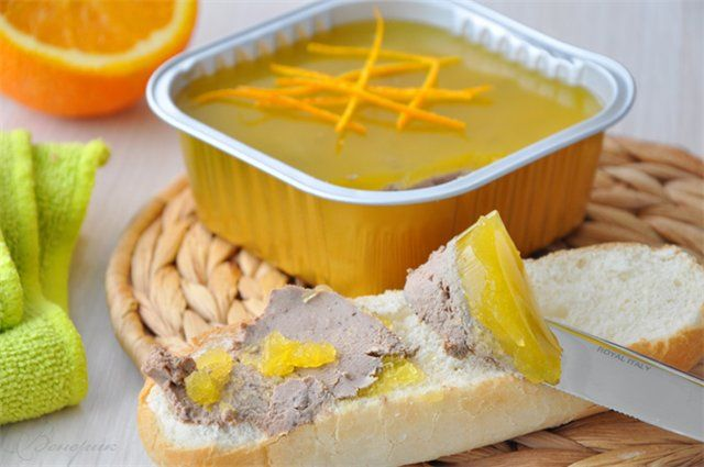 Вкусная пауза - Паштет из куриной печени с апельсиновым желе.