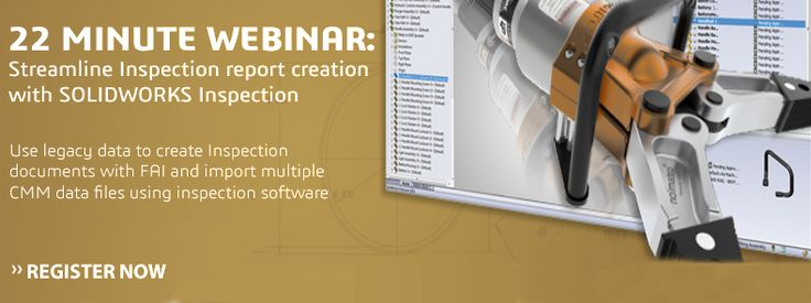 Ikuti Webinar SOLIDWORKS - 22 Minute Webinar  Streamlines Inspection report creation with SOLIDWORKS Inspection  Kamis, 23 Juni, 2016 10:00 AM - 10:22 AM WIB  Info & Registrasi : https://attendee.gotowebinar.com/register/9121483966853312772?source=APPLICADINDONESIA