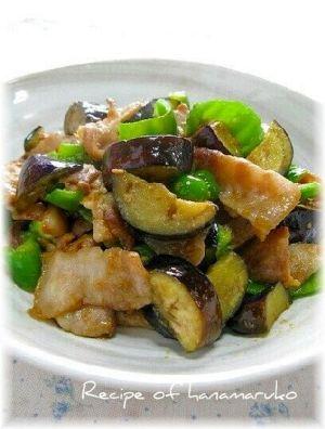 「ご飯がすすむ♪ 豚肉となすの味噌炒め☆」ささっと簡単、豚バラ肉と夏野菜の味噌味の炒めものです。 ご飯のおかずに、おつまみにお箸が進みます。【楽天レシピ】