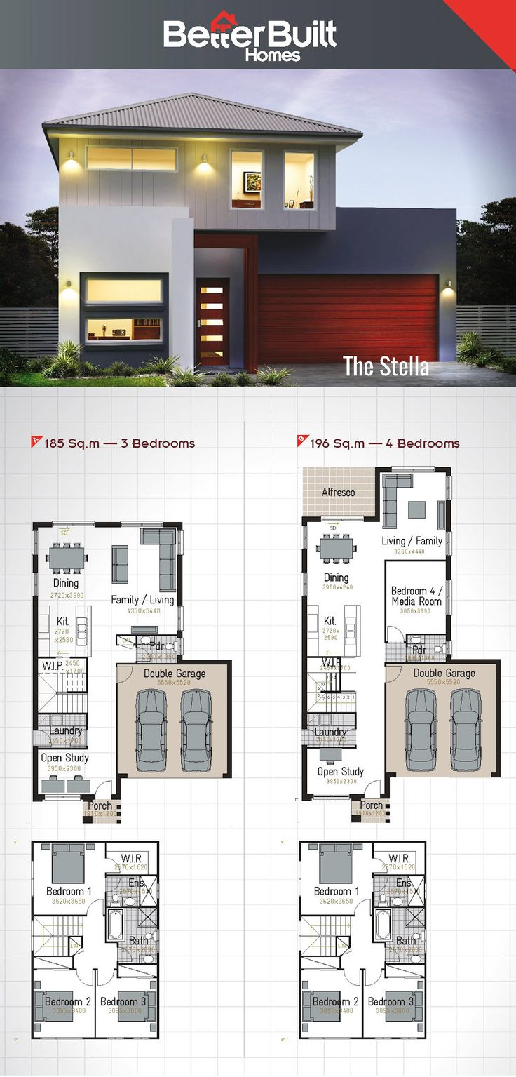 The Stella: Double Storey House Design #BetterBuilt #floorplans