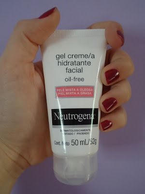 Gel creme hidratante facial da Neutrogena (oil-free) - Hidratane pele mista / oleosa
