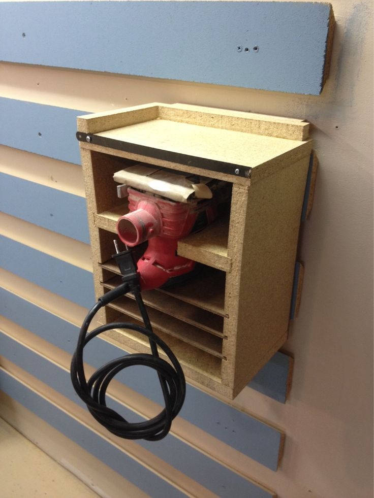 7 best wood lab projects images on pinterest french cleat sander storage station put a border on top with hacksaw blade to be keyboard keysfo Gallery