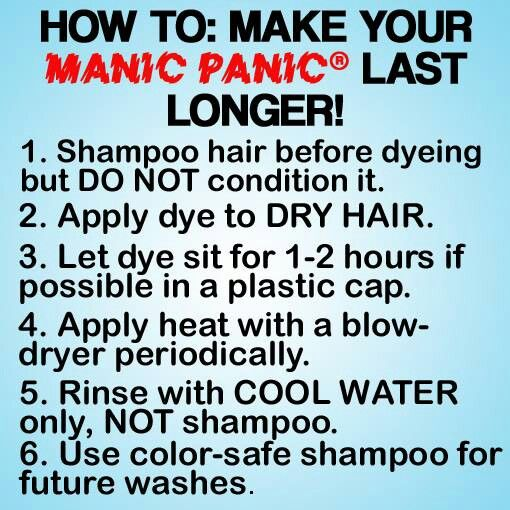 If I end up still doing Manic panic this summer, these are some good tips!