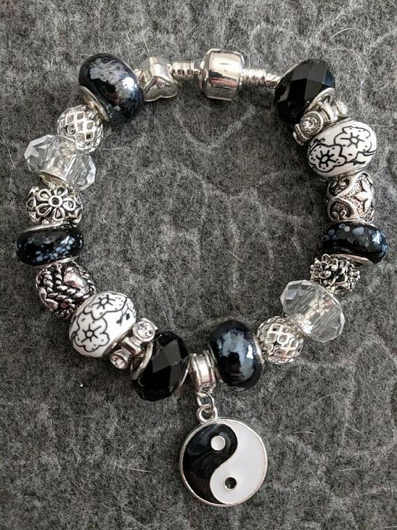 Yin Yang European Charm Bracelet Bejeweled Pinterest Organza Gift Bags And Bracelets