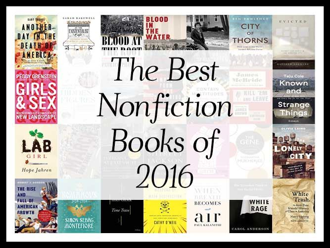 """""""What are the best Nonfiction books of 2016?"""" We aggregated 49 year-end lists and ranked the 582 unique titles by how many times they appeared in an attempt to answer that very question! http://www.bookscrolling.com/the-best-nonfiction-books-of-2016-a-year-end-list-aggregation/"""