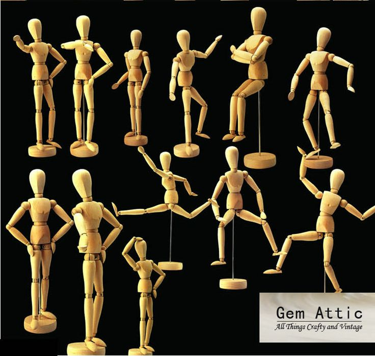 12 inches wooden human mini mannequin artists drawing by