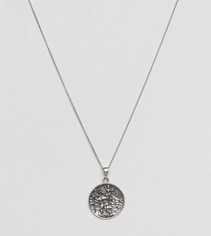 St christopher pendant 25 pinterest asos sterling silver necklace with st christopher pendant silver mozeypictures Choice Image