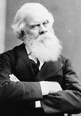 "Sir Henry Parkes, known in Australian history as the Father of Federation. ""Sir Henry was typical of a wide range of 19th century politicians, but his very special ability to appreciate the importance of the action he was taking and his vision of a strong and united Australia certainly made the people believe that he was, indeed, 'The Man of the Hour'."""