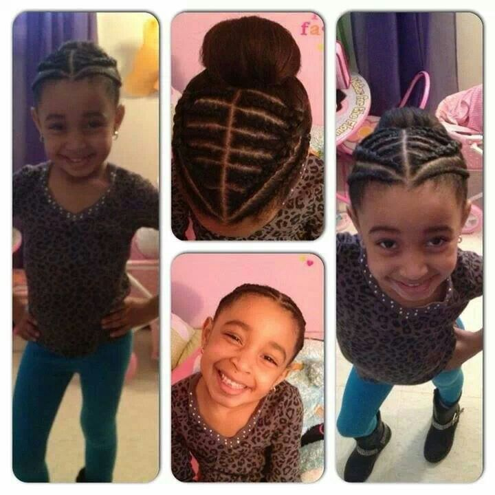Cute Natural Hair Style For A Little Girl Natural Kids