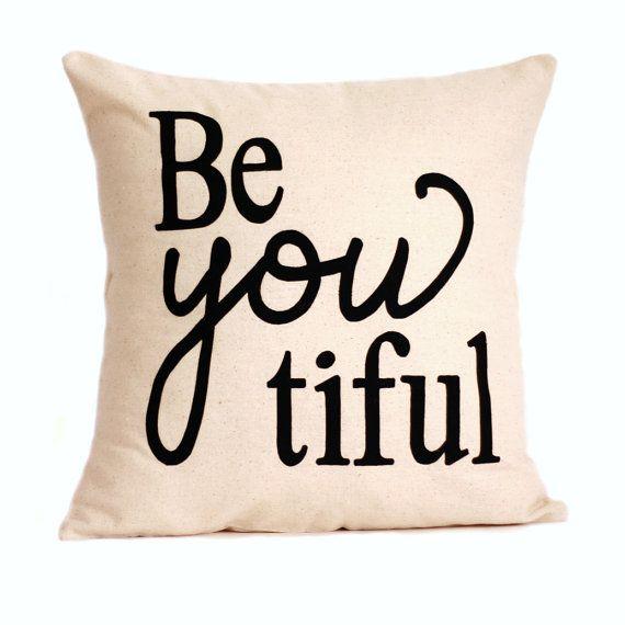 beYOUtiful Pillow Cover // 16x16 Silk Screen by michelledwight, $38.00