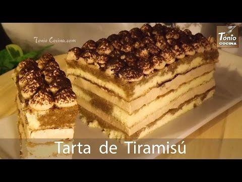 Tarta de Tiramisú, fácil, deliciosa y con crema sin huevo