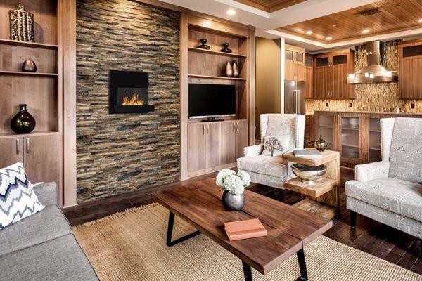 Styl Rustykalny W Salonie Jak Urzadzic Salon W Stylu Rustykalnym Electric Fireplace Contemporary Fireplace Tools Living Room Decor Styles