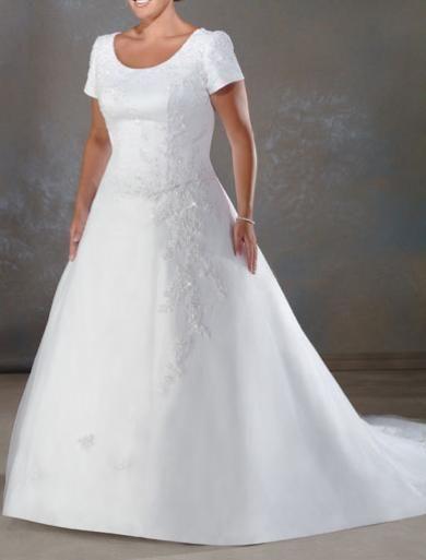 Svadobné šaty XXL004