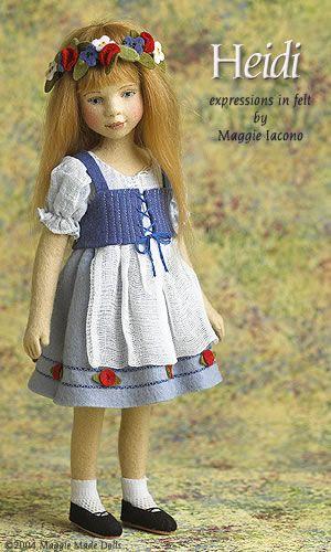 Heidi 11 Inch Tall Felt Doll Edition Size: 100 Created in 2004
