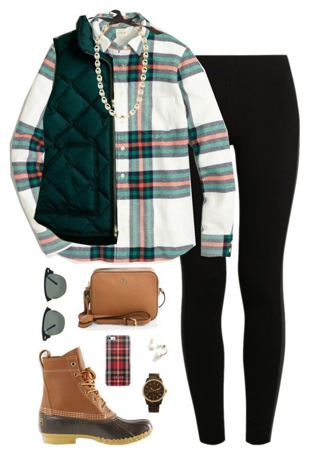 """""""~Infinite Cities~"""" by thepinkandgreenprep1 ❤ liked on Polyvore featuring NIKE, L.L.Bean, J.Crew, Tory Burch, Ray-Ban, MICHAEL Michael Kors and Kate Spade"""