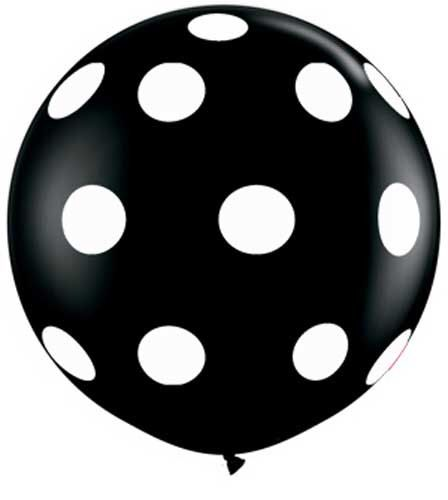 """Giant 36"""" Inch Black With White Polka Dot Round Large Balloon 36 inch Premium  Quality Balloon Wedding  Party Decor prop """"Same Day Shipping"""" by creativeexpres on Etsy https://www.etsy.com/listing/214053003/giant-36-inch-black-with-white-polka-dot"""