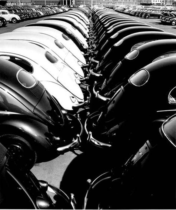 In a Volkswagen Factory, 1953 (7)