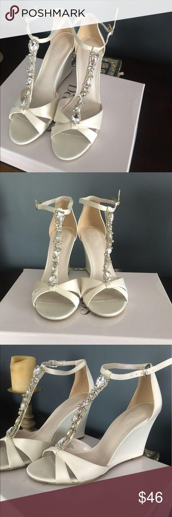 Bridal wedges Size 8 Davids bridal brand new David's Bridal Shoes Wedges