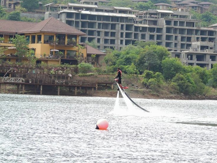 Water jetpack at Lake Warasgaon, Lavasa