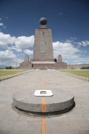 Mitad Del Mundo, Ecuador. I didn't realize the equator could be so cold!