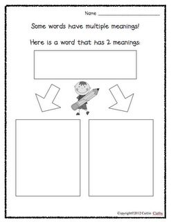 multiple meanings of words... I'd like there to be more boxes though, some words have 3 meanings!
