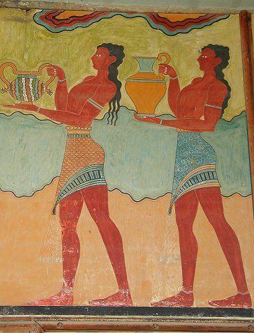 Fresco - Knossos, Crete, Greece