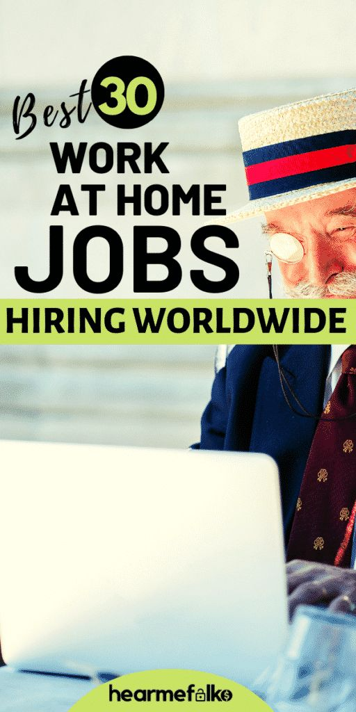 30 Best Global Work from Home Jobs [2019]