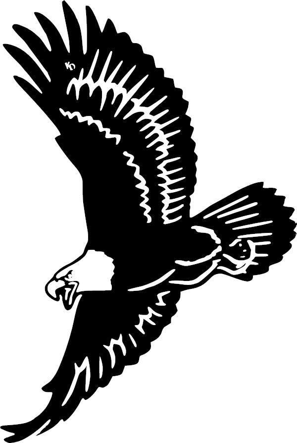 Soaring Eagle Vinyl Decal Lohn Eagles Silhouette