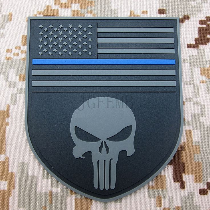 black background grey design The thin blue line Devgru SealTeam Punisher american flag DEVGRU SealTeam 3D PVC Velcro Patch