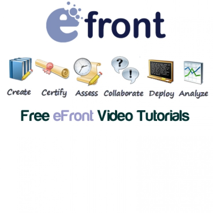 31 Free eFront Video Tutorials     Would you be interested in a list of Free eFront LMS Video Tutorials? Would you like to know how to customize a lesson, work with categories, create a course or a lesson, work with job descriptions and certifications at eFront LMS?     http://elearningindustry.com/subjects/free-elearning-resources/item/426-31-free-efront-video-tutorials