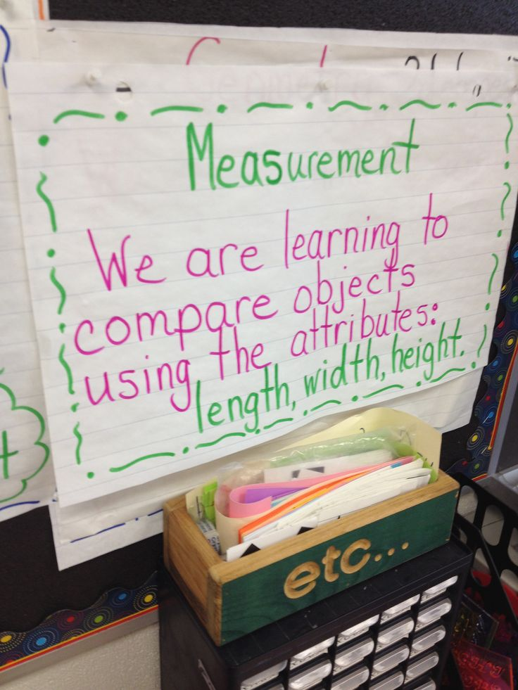 Our first measurement learning goal.