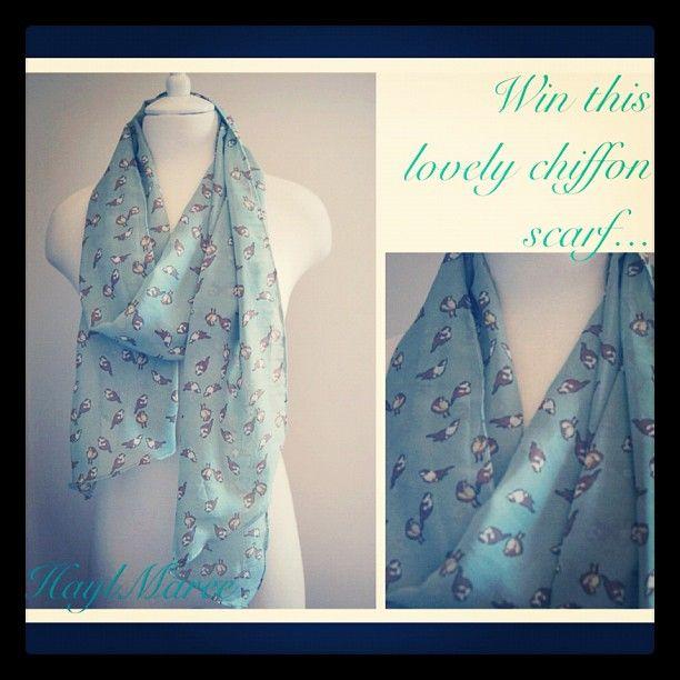 Win this pretty chiffon print scarf by liking and sharing www.facebook.com/haymareeshop Comp drawn at 120likes  #fashion #style #scarf #womensfashion #win