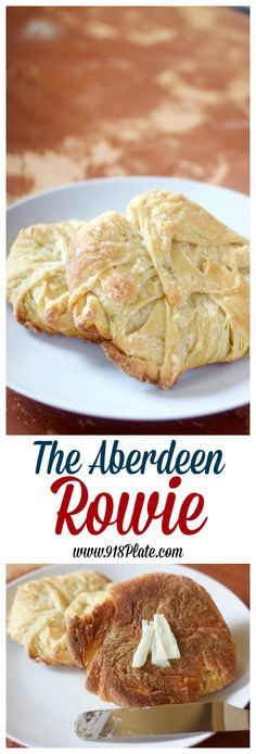 Rowies are a crispy, layered pastry from Aberdeen, Scotland. The secret to them is a combination of lard and butter...and a little bit more butter.