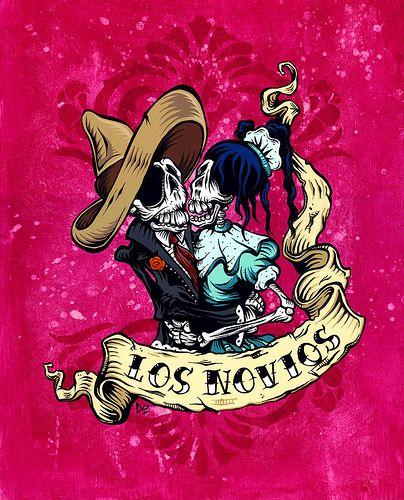 Day of the Dead Art -- Los Novios by David Lozeau