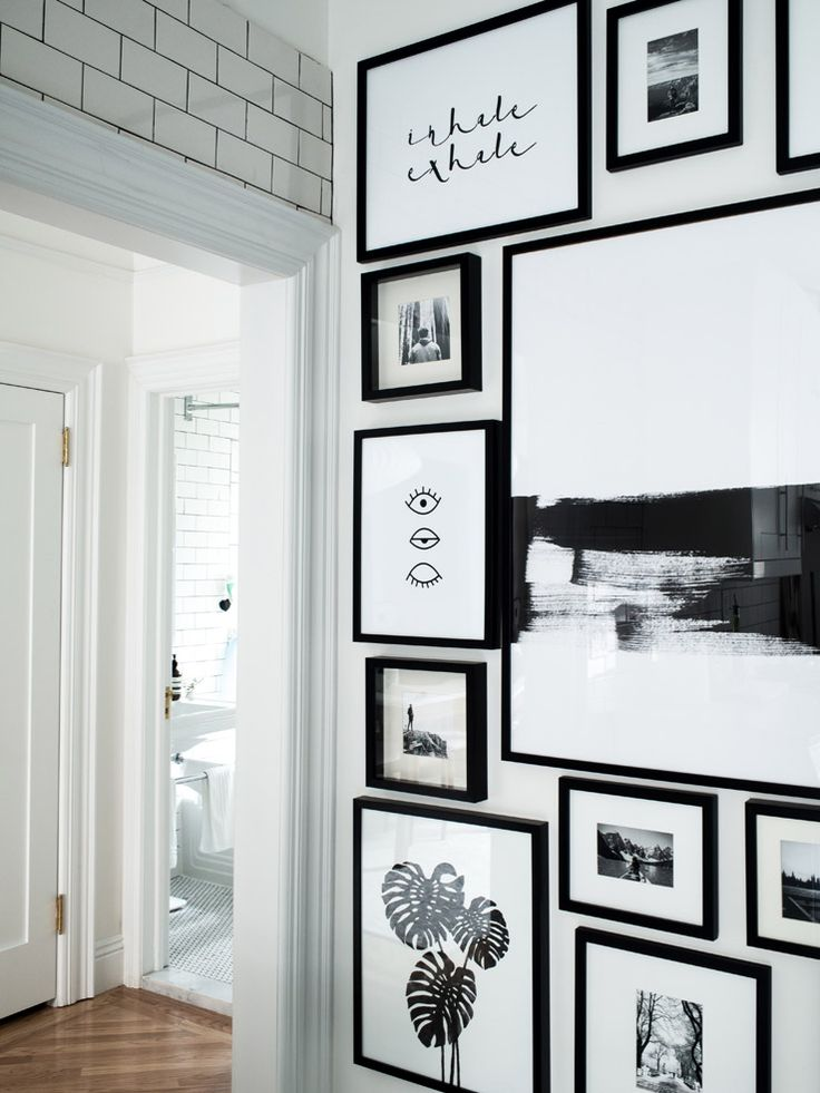 West Elm   Monochrome Gallery Wall. Wall IdeasDecor IdeasWhite Wall BedroomMonochrome  BedroomBlack ...