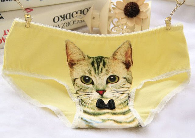 Hot Selling Cotton Panties Women's Plus Size Underwear Briefs 3D Printing Panty Cat Panties Sexy Girls Lingerie Intimates