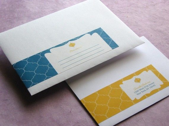 I'm a little bit obsessed with wrap-around address labels. They dress up a plain old envelope + act as mailing label AND return address. I bet they're cost effective too. I just may have to design some.