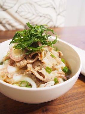 【夏に食べたい!さっぱり!豚バラ梅肉炒めの冷やしうどん!】|レシピブログ